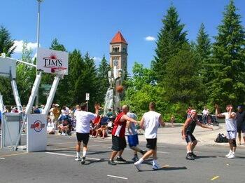 Basketball in Spokane small